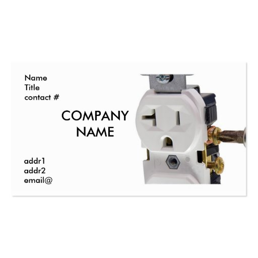 voice grade jack wiring standard electrical wall outlet wiring standard business card | zazzle