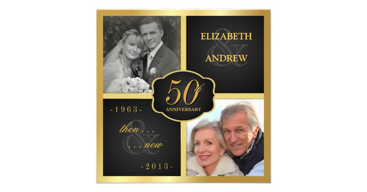 50th Wedding Vow Renewal Invitations: Elegant 50th Anniversary Party Vow Renewal Personalized