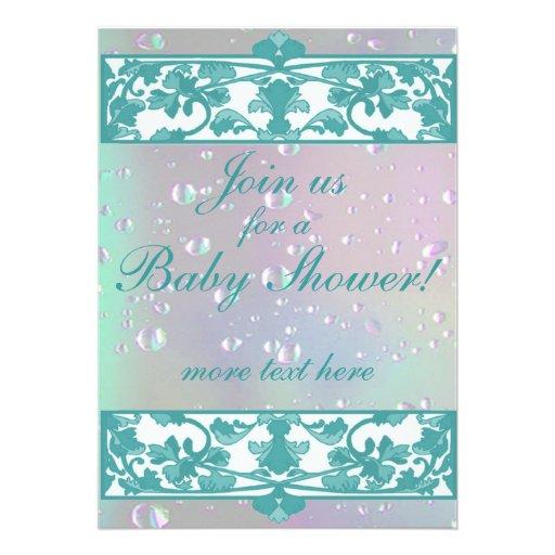 Elegant Baby Shower Invitations template 5\