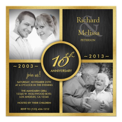 10th Wedding Anniversary Invitations: Personalized Tenth Wedding Anniversary Invitations