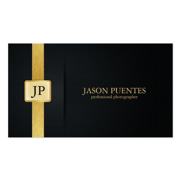 elegant black and gold professional photographer business