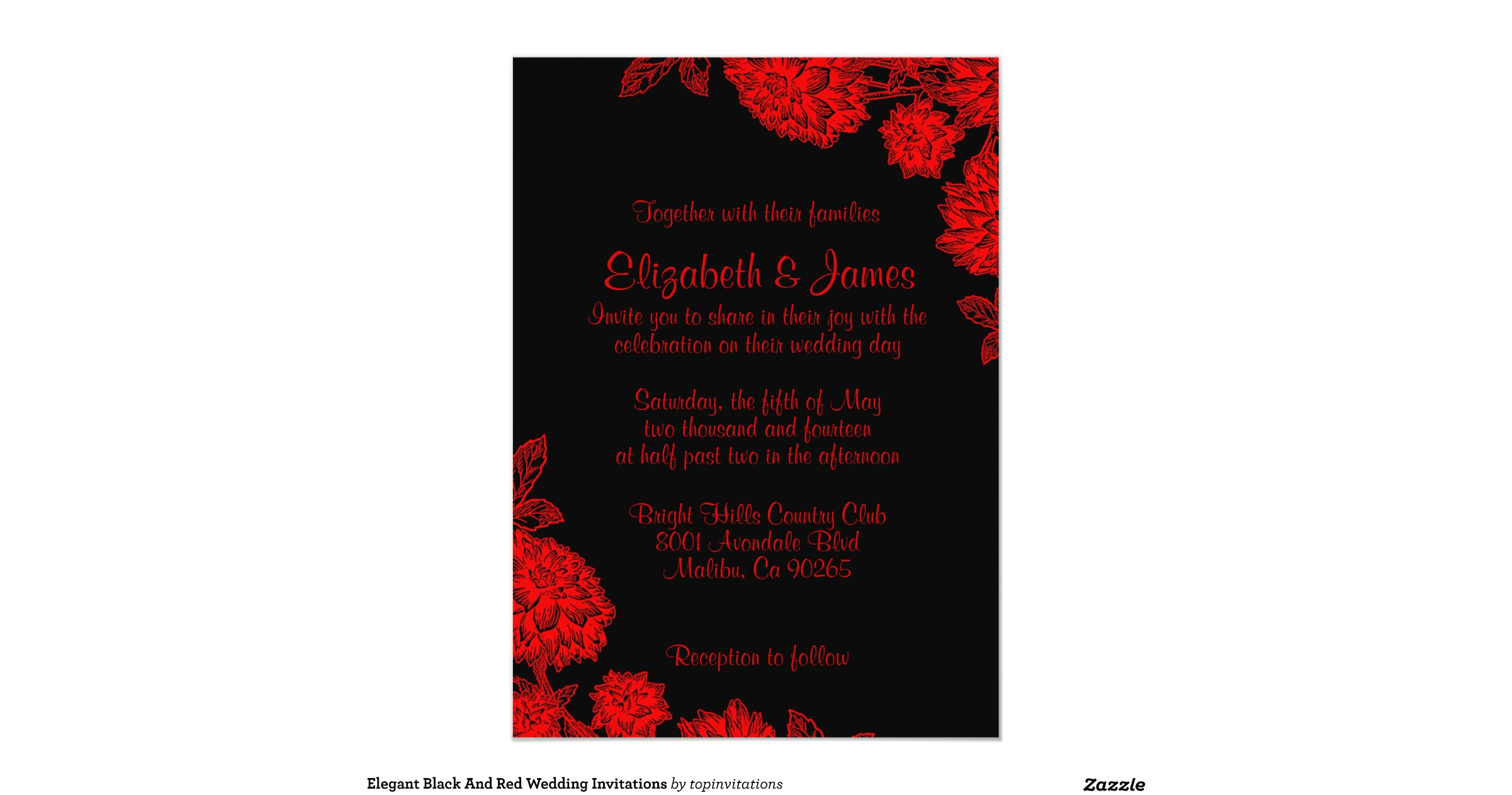 Wedding Invitations Red White And Black: Elegant_black_and_red_wedding_invitations