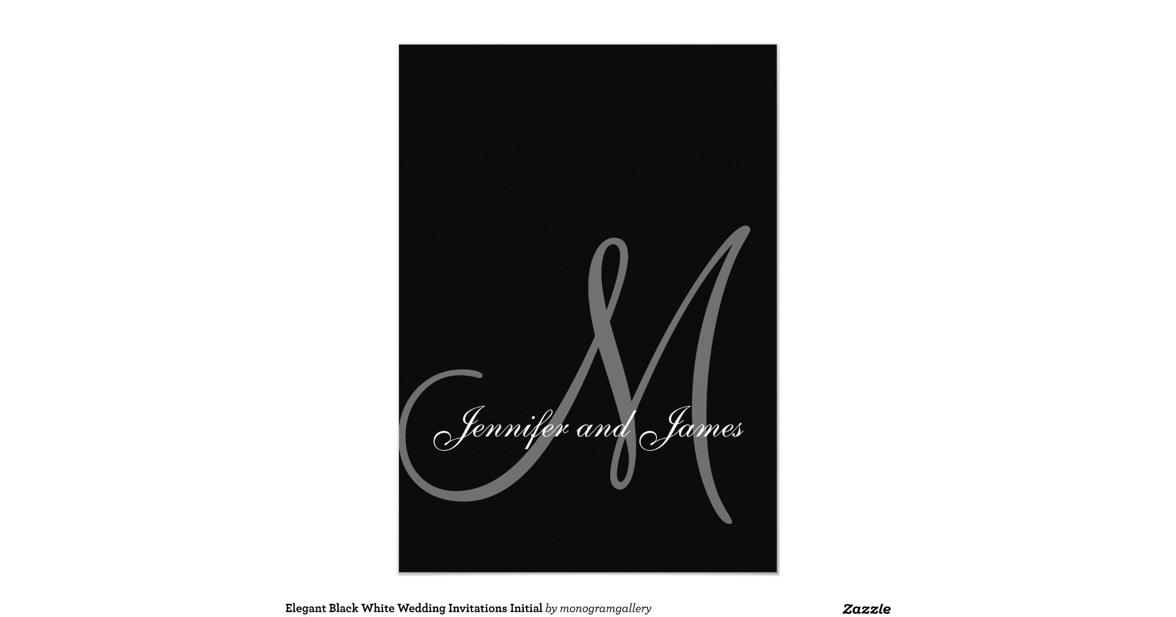 Black White Wedding Invitations: Elegant_black_white_wedding_invitations_initial