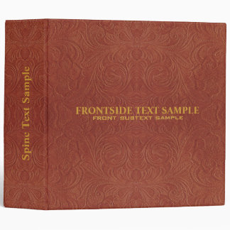 Embossed Leather 3 Ring Binders Zazzle