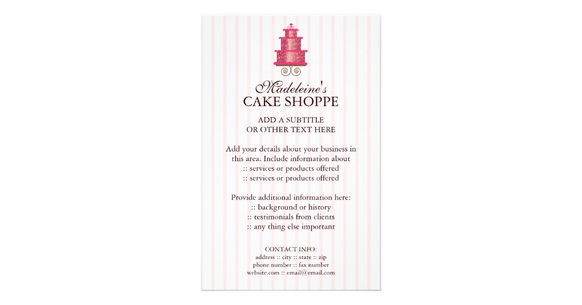 Wedding Cake Flyer