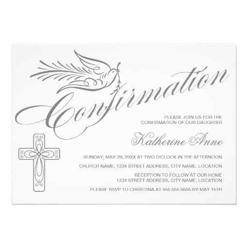 Personalized catholic invitations for Free printable confirmation invitations template