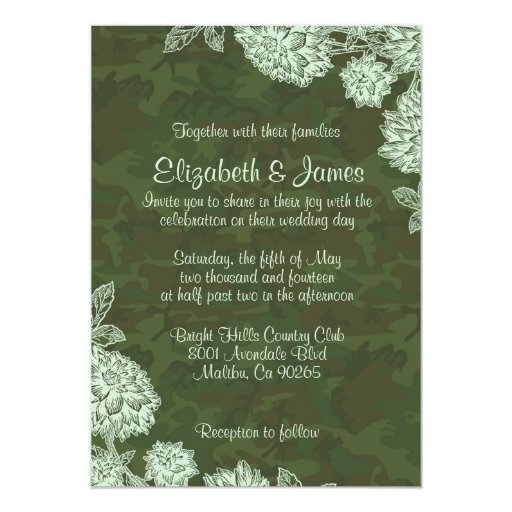 Camo Wedding Invitations To Make: Elegant Camo Wedding Invitations