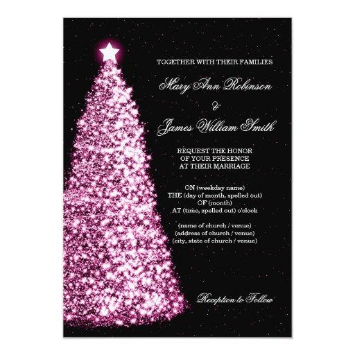 Elegant Christmas Wedding Sparkle Pink 5x7 Paper