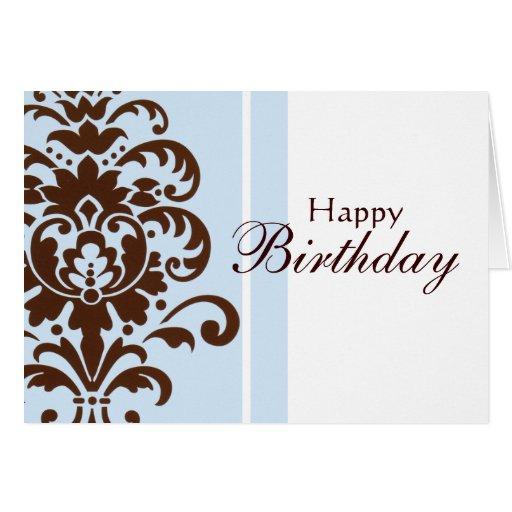 Elegant Damask For Happy Birthday