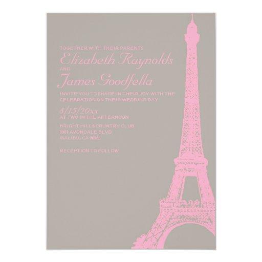 Eiffel Tower Wedding Invitations: Elegant Eiffel Tower Wedding Invitations