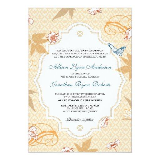 Elegant Fall Bohemian Autumn Wedding Invitation | Zazzle