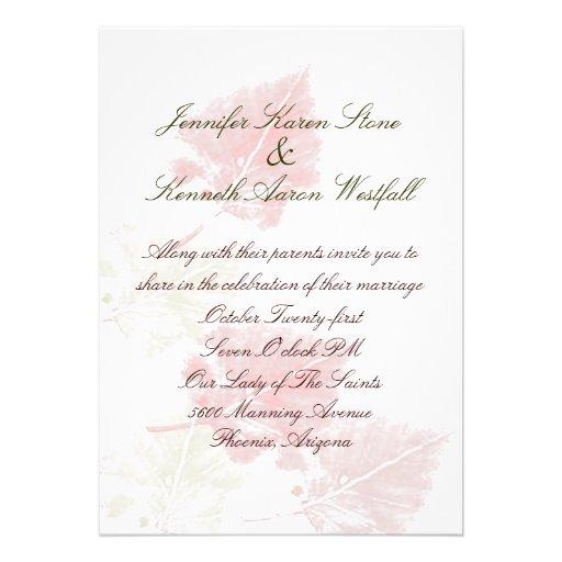 Elegant Fall Wedding Invitation | Zazzle