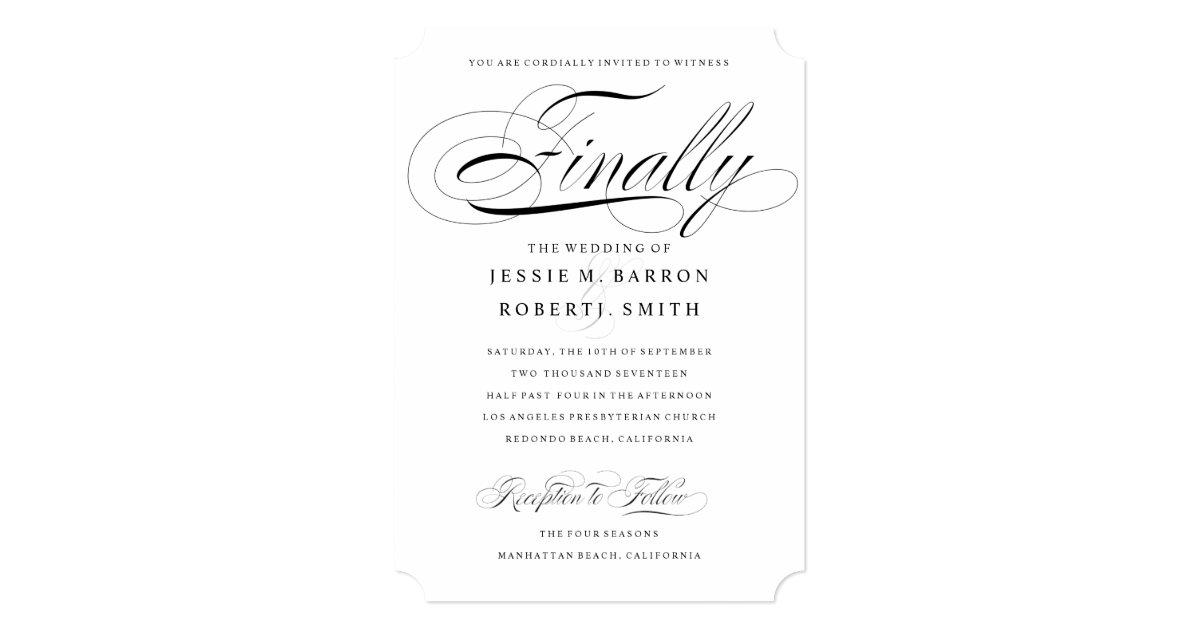 Gay Wedding Invitations: Elegant Gay Wedding Invitation Finally Calligraphy
