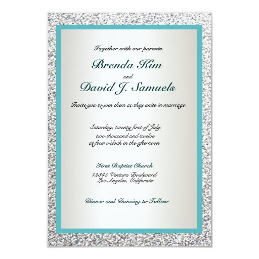 Www Zazzle Com Wedding Invitations: Elegant Glitter Wedding Invitation