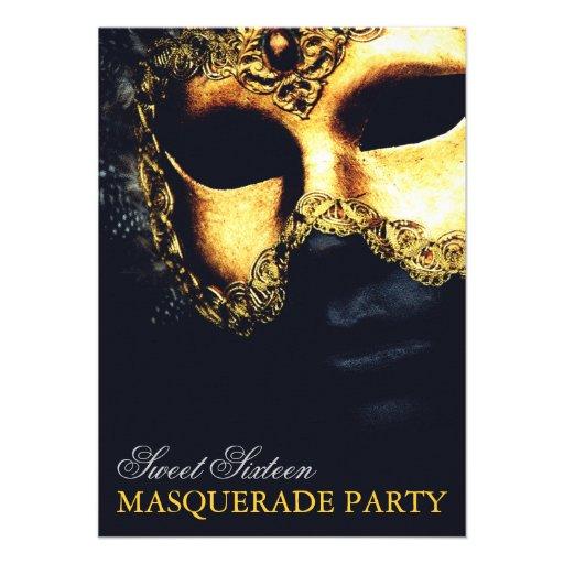 Personalized Sweet 16 Masquerade Invitations