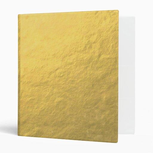 Elegant Gold Foil Printed 3 Ring Binder