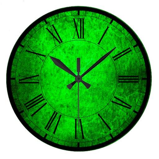 Elegant Green Colors Wall Clock Zazzle