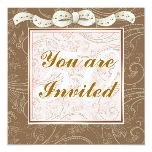 Elegant Happy 50th Birthday Template Invitations