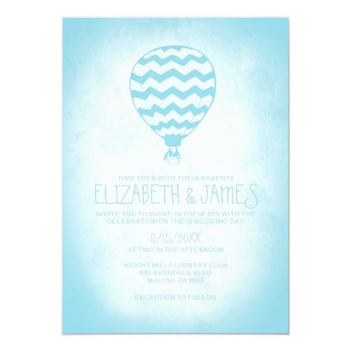 Elegant Hot Air Balloon Wedding Invitations