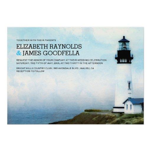 Personalized Lighthouse Wedding Invitations Custominvitations4u Com