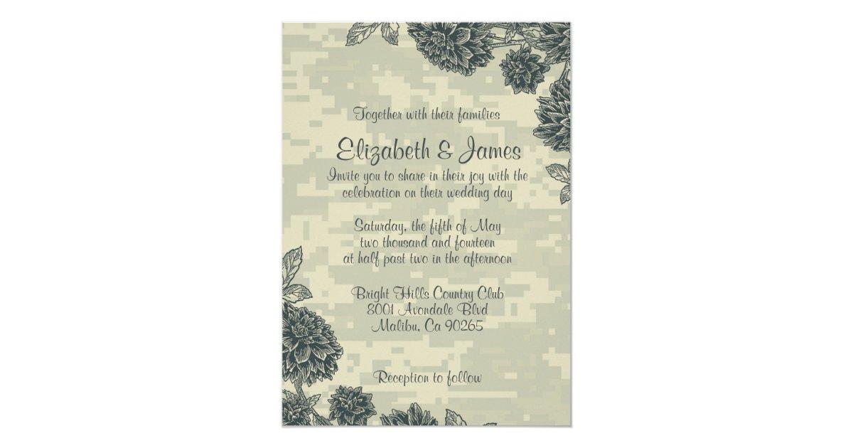 Army Wedding Invitations
