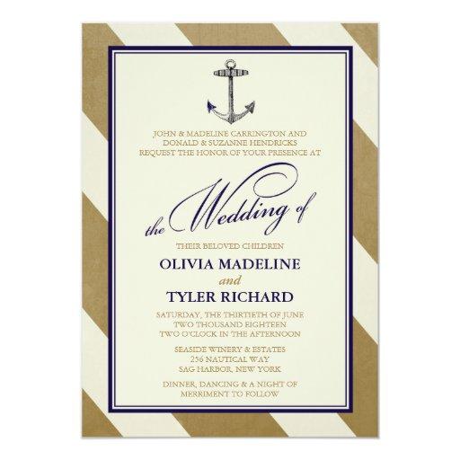 Elegant Nautical Wedding Invitations