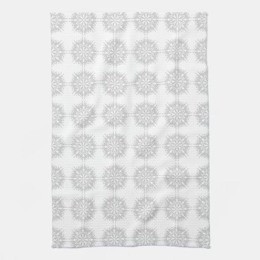 elegant pattern light gray and white kitchen towel zazzle. Black Bedroom Furniture Sets. Home Design Ideas