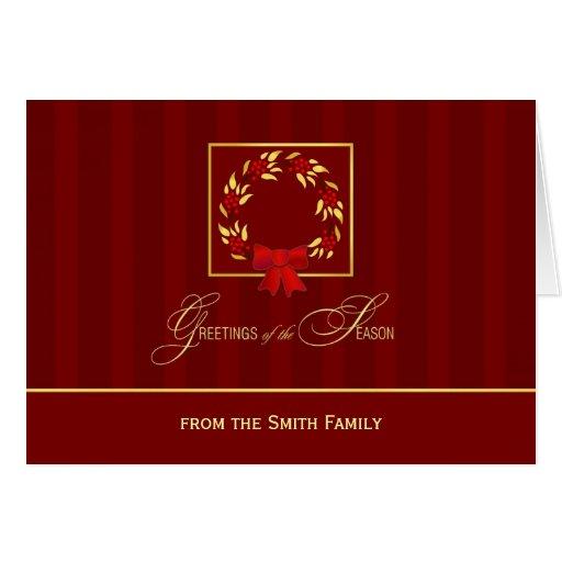 Elegant Personalized Holiday Christmas Cards