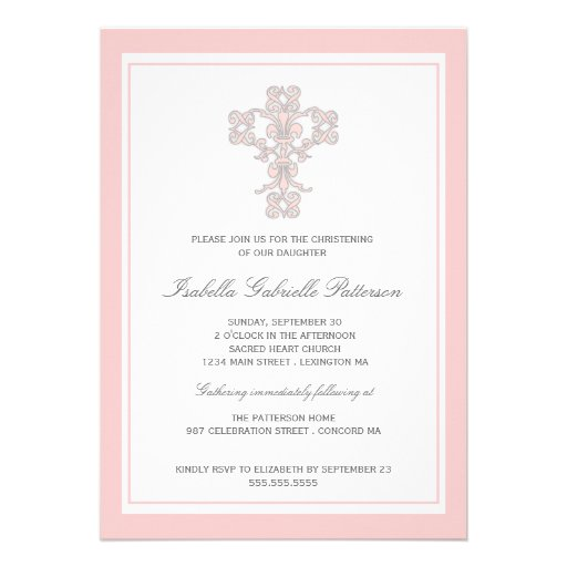 Personalized Baby Baptism Invitations Custominvitations4u Com