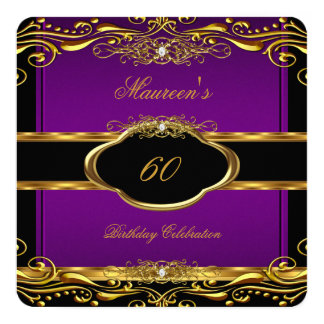 Purple 60th Birthday Party Invitations Amp Announcements