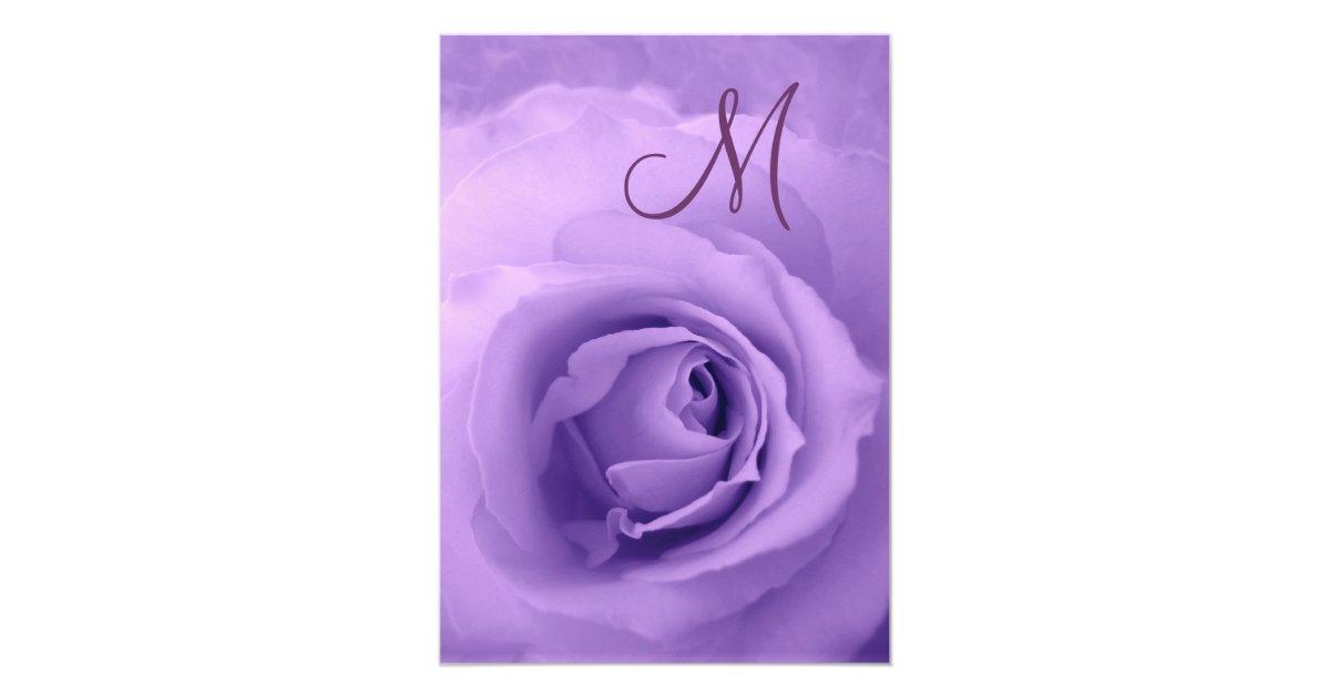 Purple Rose Wedding Invitations: Elegant PURPLE Rose Wedding Invitation