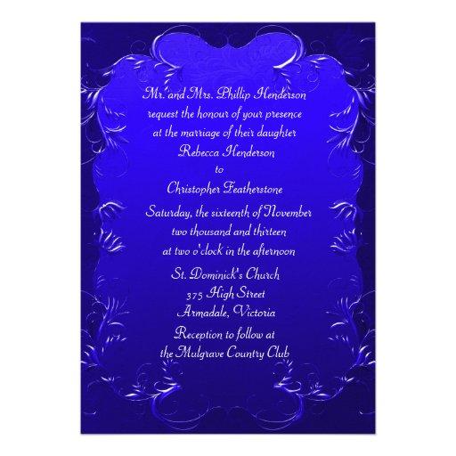 Wedding Invitation Editable Template Royal Blue – Wedding ...