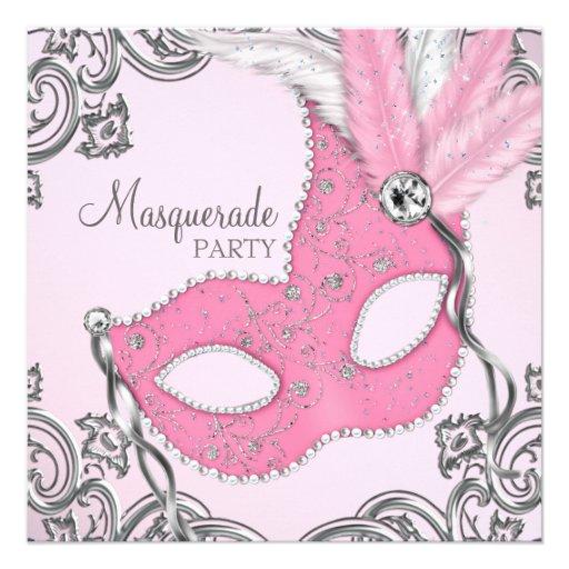 Personalized Elegant Masquerade Party Invitations