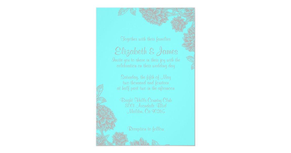 Teal Invitations Wedding: Elegant Teal And Silver Wedding Invitations