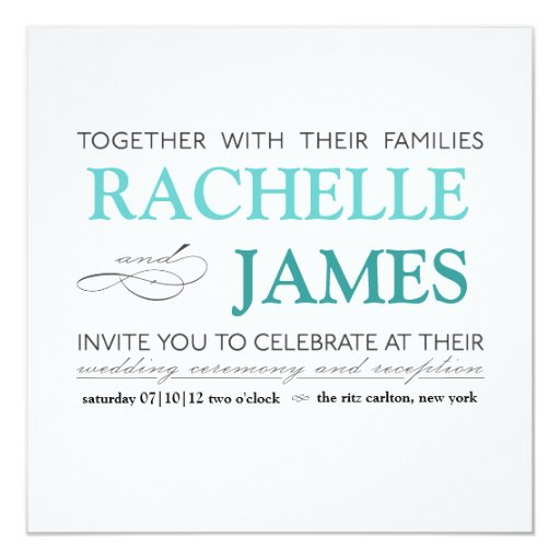 Carlton Cards Wedding Invitations: Elegant Type Wedding Invitation