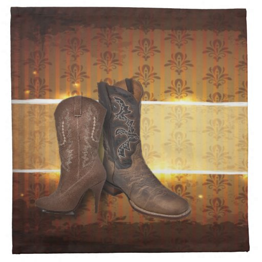 Elegant Vintage Cowboy Boots Country Wedding Napkin Zazzle