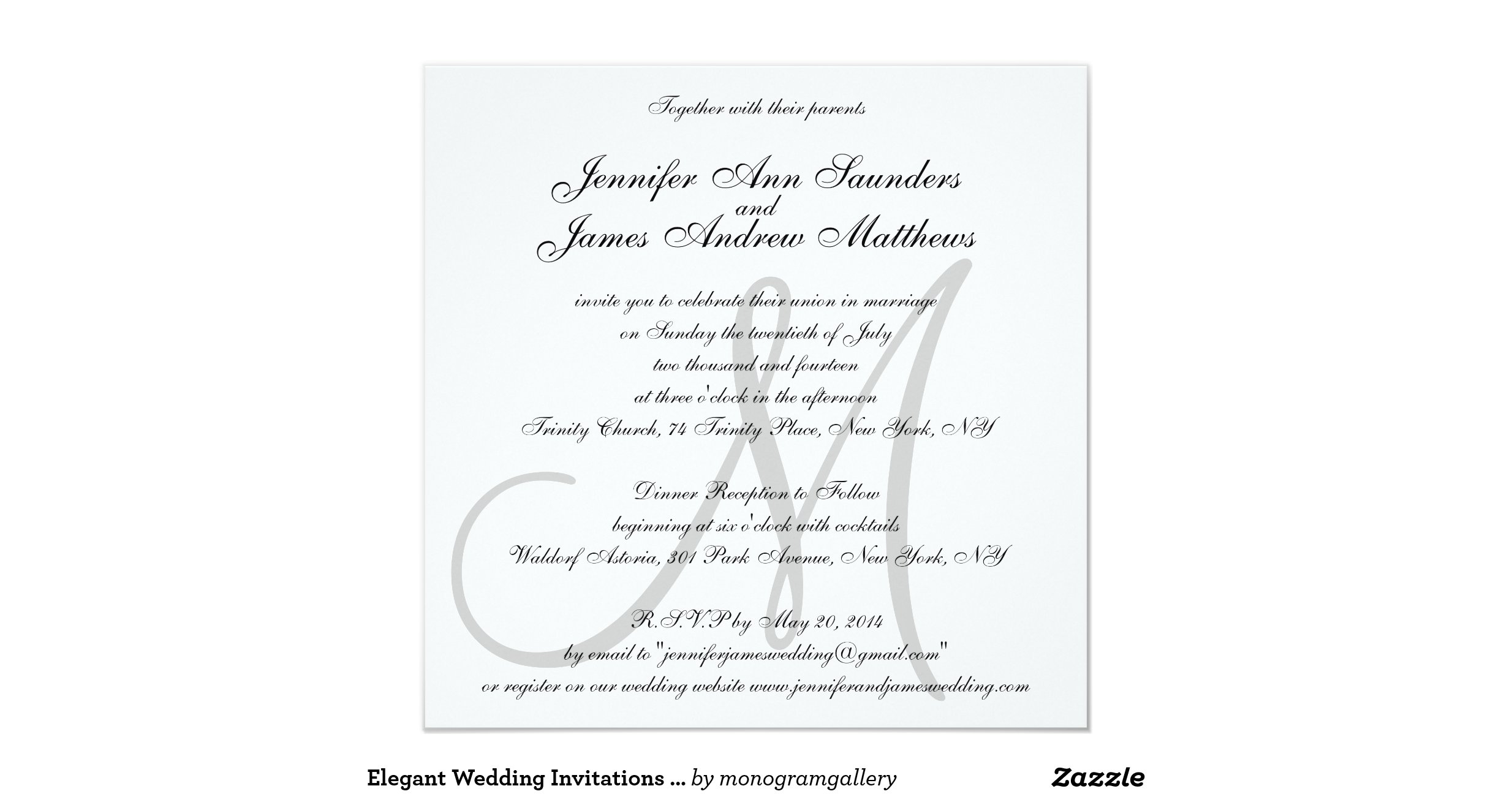 Initial Wedding Invitations: Elegant_wedding_invitations_monogram_initial_names