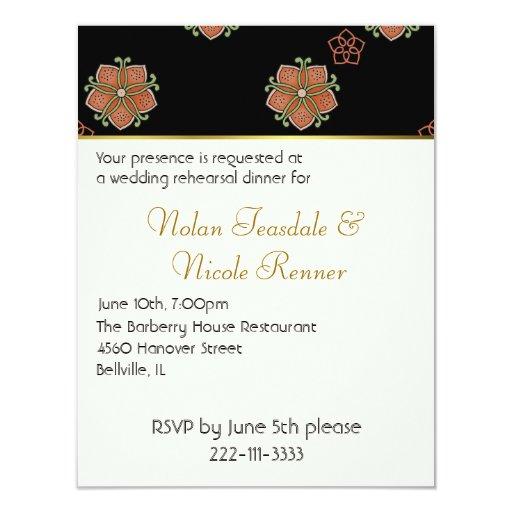 Wedding Rehearsal Dinner Invitation: Elegant Wedding Rehearsal Dinner Invitation