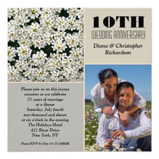 10th Wedding Anniversary Invitations: 10th Wedding Anniversary Invitations, 1100+ 10th Wedding