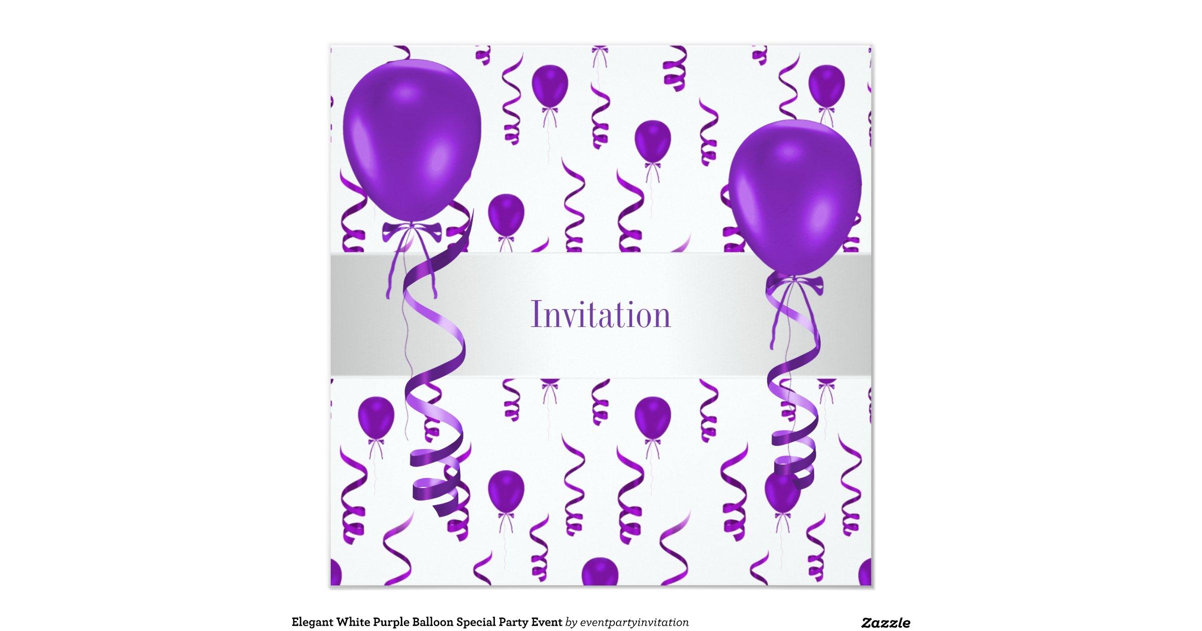 elegant_white_purple_balloon_special_party_event ... - photo#11
