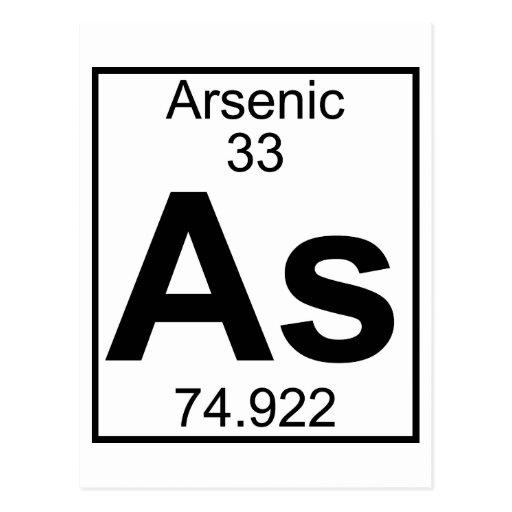 Element 033 - As - Arsenic (Full) Postcard | Zazzle