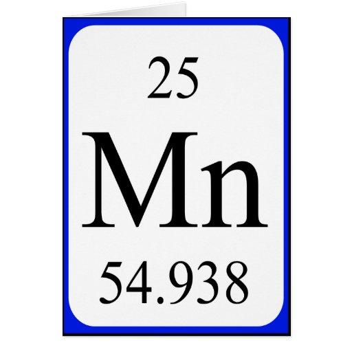 Element 25 card - Manganese white | Zazzle