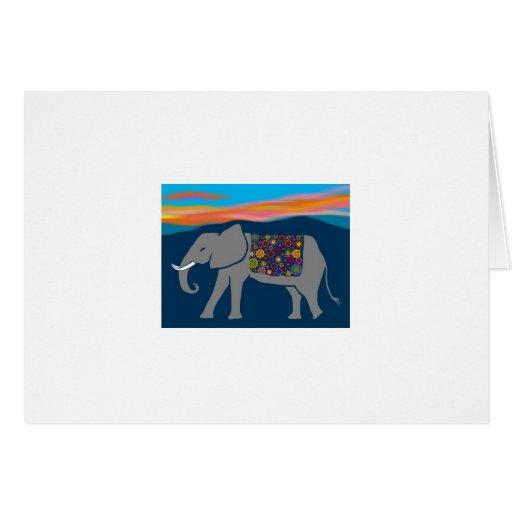 elephant sunset donation thank you card  zazzle