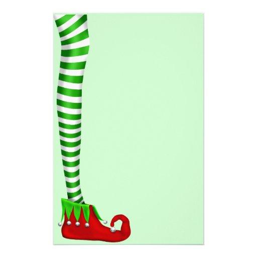 Elf Leg Scrapbooking Paper Stationery Zazzle