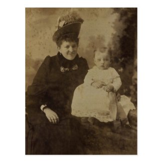 Ellen (RUPP) GRESER (1868-1964) & child Post Cards