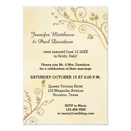 Post Wedding Party Invitation: Elope Or Post Wedding Party Invitation