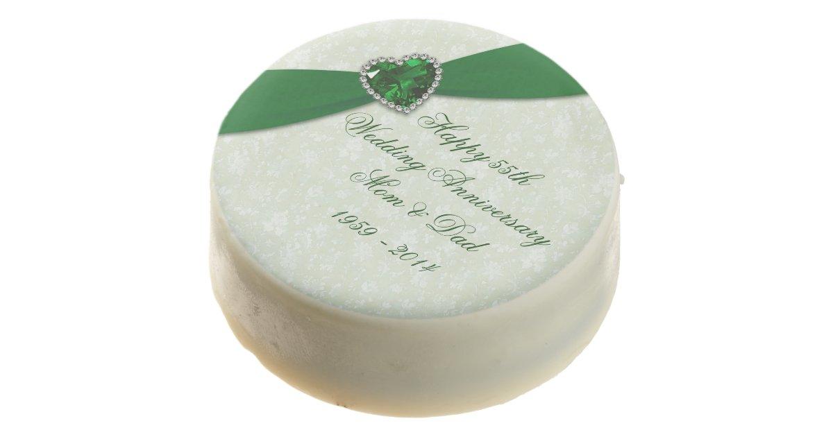 Emerald Wedding Anniversary Gifts: Emerald Wedding Anniversary Oreo Cookies