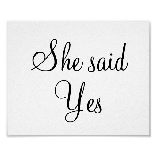 she said yes clip art - photo #4