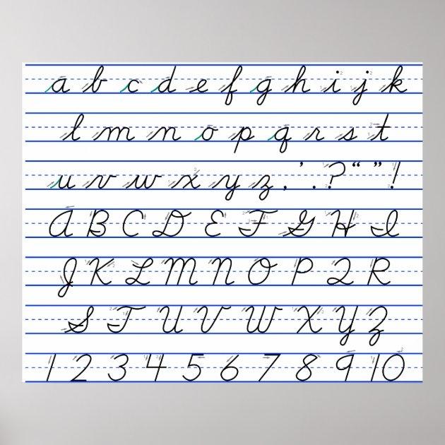 good print handwriting alphabet chart