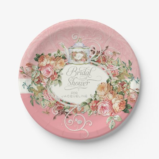 English Manor Vintage Rose Tea Party Bridal Shower Paper